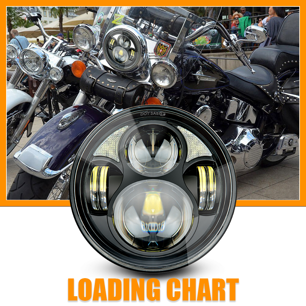 "7/"" LED Headlight Round Headlamp for Yamaha V-Star XVS 650 1300 SUV Stryker DRL"
