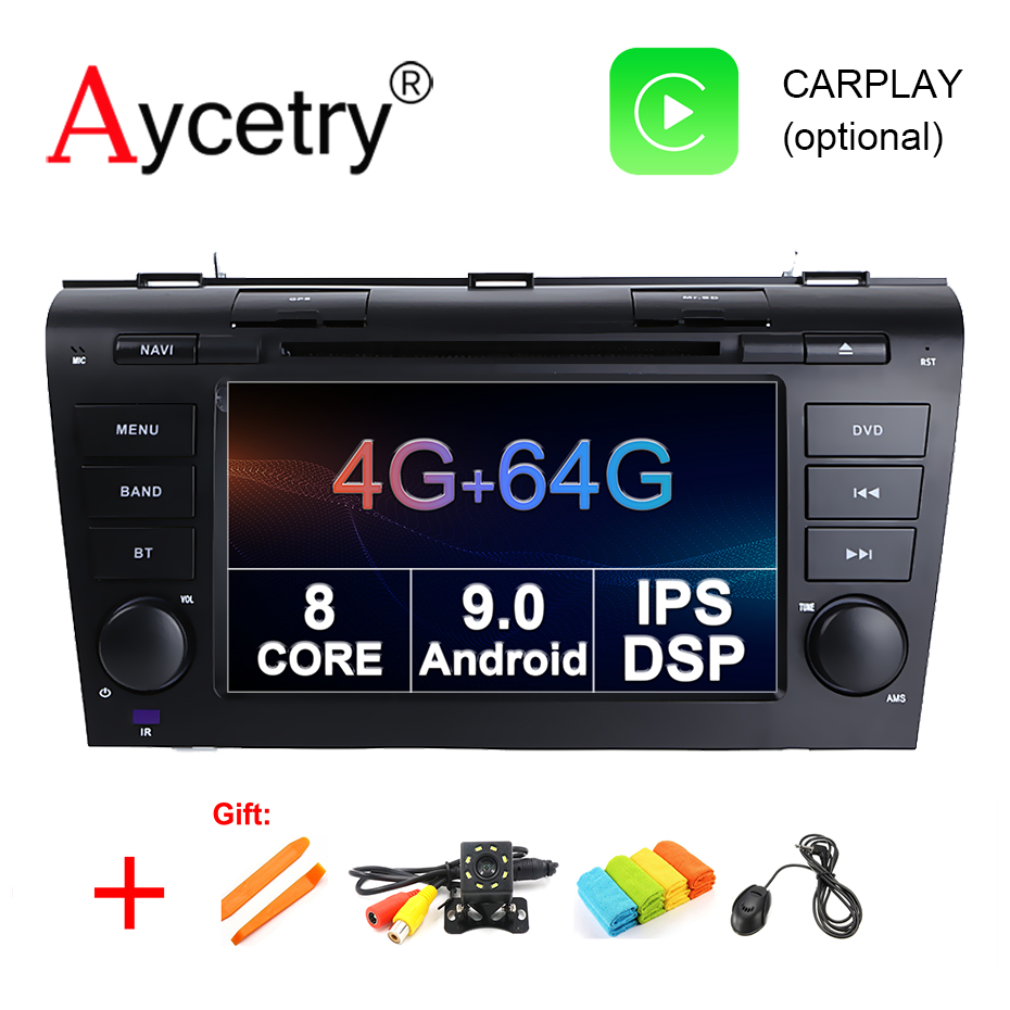 4G 64G IPS DSP 2 Din Android 9.0 Car multimedia dvd player GPS For Mazda 3 mazda3 2004 2005 2006 2007 2008 2009 car radio stereo-in Car Multimedia Player from Automobiles & Motorcycles    1