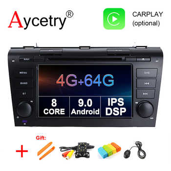 4G 64G IPS DSP 2 Din Android 9.0 Car multimedia dvd player GPS For Mazda 3 mazda3 2004 2005 2006 2007 2008 2009 car radio stereo - Category 🛒 Automobiles & Motorcycles
