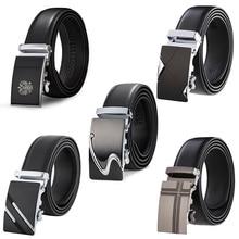 Genuine Leather Belts For Men Automatic Male Cummerbunds Belt dropshipping Black cinturon hombre