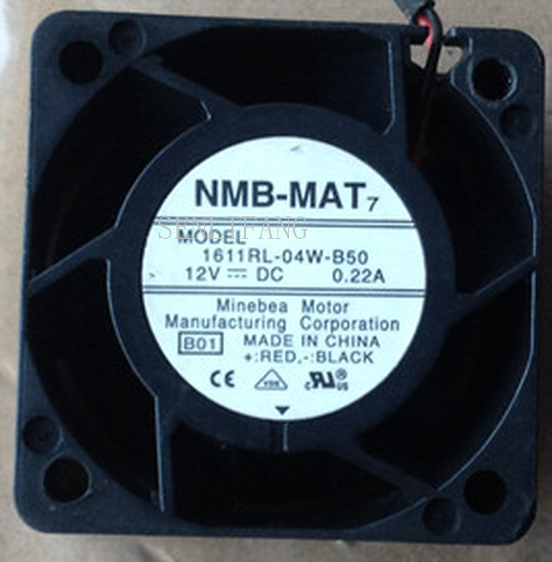 Free Shipping New Original  4cm 4028 12V 0.22A 1611RL-04W-B50 40*40*28MM Dual Ball Fan Cooling Fan