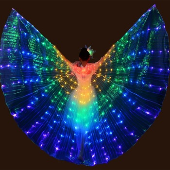 LED dance wings butterfly glow dance halloween color fluorescent show christmas belly dance wings обувь для тибетских танцев butterfly dance 1204