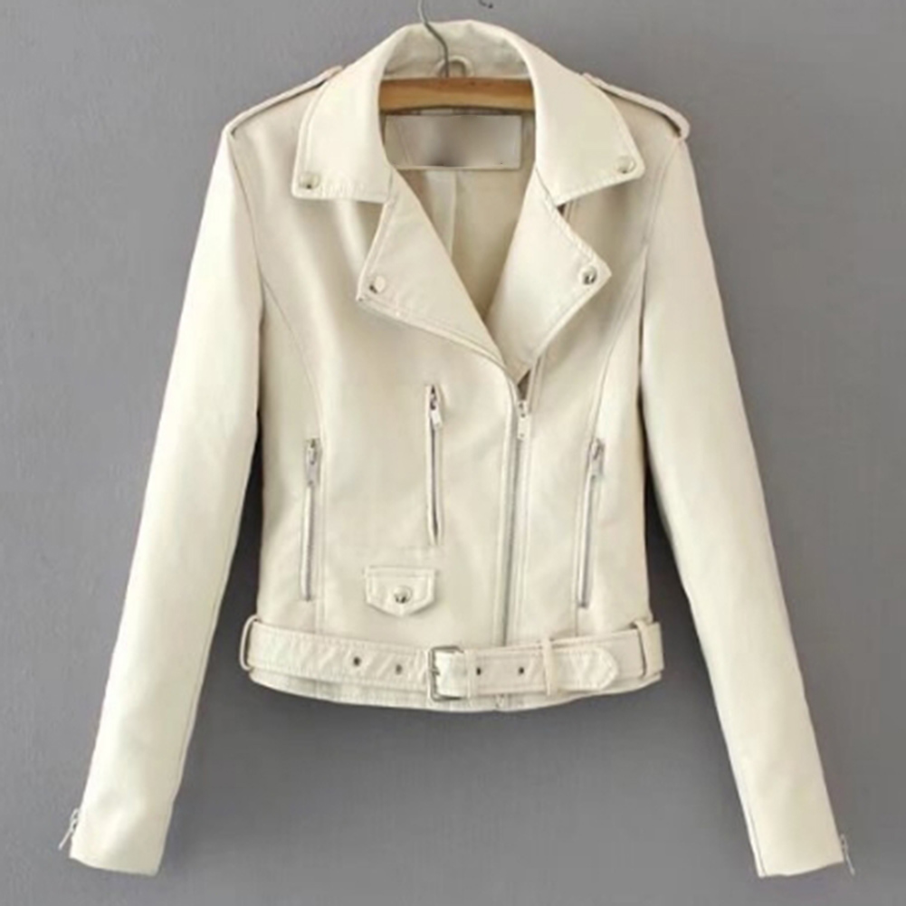H56dbd54f3c9e45c8870d2273528e0c2az Fashion Punk Women Coat Jacket Leather Long Sleeve Lapel Zipper Button Motorcycle Jacket Short Coat For Women's Clothings