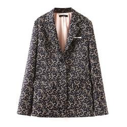 Patchwork Blazers Women Fashion England Style Jackets Women Elegant Printed Suits Female Ladies Print Button Coat Single Button