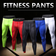 Mens Quick Dry Running Pant Compression Training Fitness Tights Polyester Yoga Pantalones Men Gym Sport Leggings Trousers S-3XL