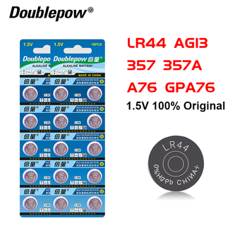 20pcs 100% Original Alkaline Button Batteries LR44 AG13 357 357A A76 GPA76 Button cell AG 13 1.5V For Watch Electronic Remote image