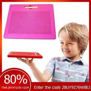 Доска для рисования с игрушками для детей, креативная детская игрушка, планшет для рисования, магнитные Стальные Бусины, ручка для мальчико...