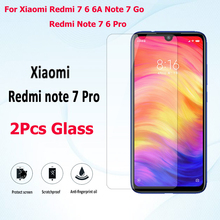 2Pcs 9H For Xiaomi Redmi 7 6 6A 7A Go Protective tempered Glass For Xiaomi Redmi Note 7 Pro 6 Pro 7 6 Phone Glass Film 2pcs 9h for xiaomi redmi 7 6 6a 7a go protective tempered glass for xiaomi redmi note 7 pro 6 pro 7 6 phone glass film