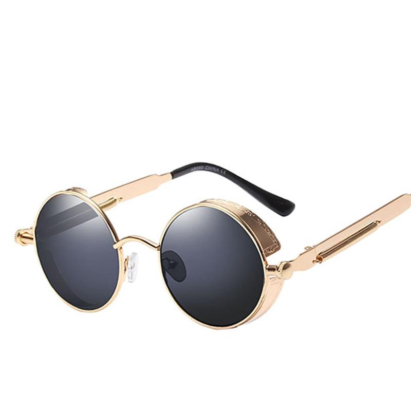 Classic Gothic Steampunk Sunglasses Sun Glasses Men Women Brand Designer  Vintage Round Glasses  Fashion Driving Goggle UV400 1