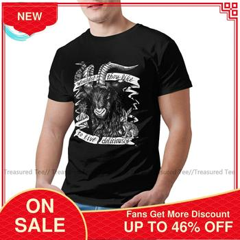 Goat T Shirt Black Phillip Live Deliciously T-Shirt Male Awesome Tee Shirt Graphic Short Sleeve Tshirt doctor dr who daleks tardis medium t shirt tee shirt van gogh phone booth black 012290
