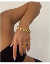 Bracelet de montre en titane avec pavé d'or 18 K pour femmes, bijoux en acier inoxydable, robe Chic, japon, corée du sud, mode