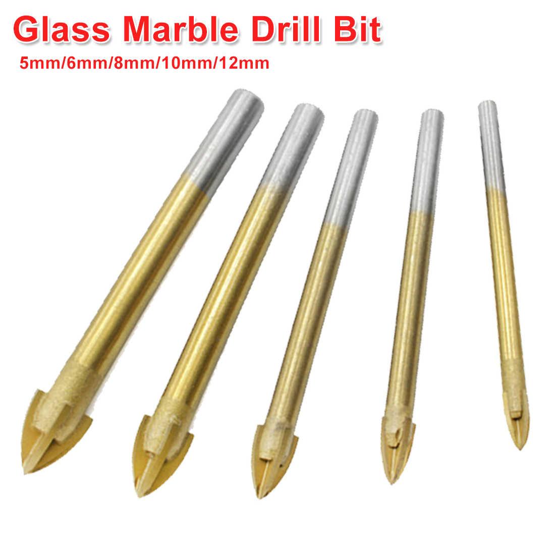 10Pcs//set Porcelain Spear Head Tile Glass Ceramic Marble Drill Bits Hex-Shank