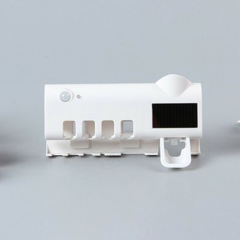 Uv Toothbrush Sterilizer Wall Mounted Infrared Intelligent Sensor Lamp Compact And Hollow Out Design 1 Pcs