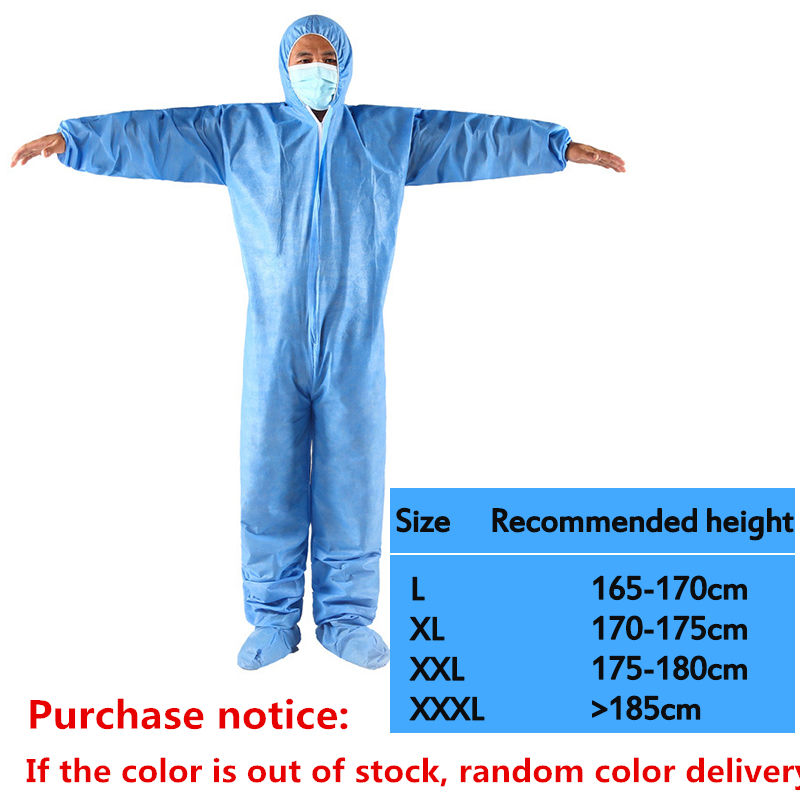 One Time Disposable Waterproof Oil-Resistant Protective Coverall for Spary Painting Decorating Clothes Overall Suit Workwear 3