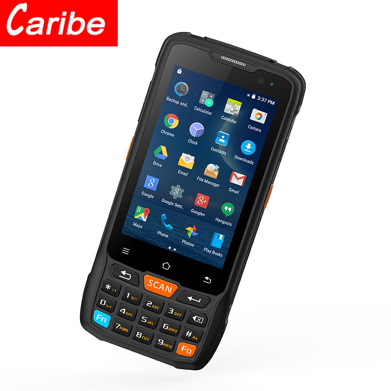 CARIBE Android PDA Rugged 4G Barcode Reader Quad Core 2GB+16GB WiFi RFID GPS
