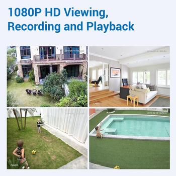 SANNCE 4CH HD 1080P XPOE CCTV NVR System 4PCS 2M IP Cameras Outdoor Weatherproof Home Video Security Surveillance Cameras System 2