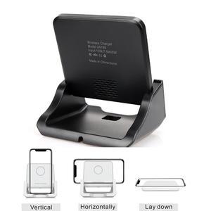 Image 5 - Bezprzewodowa podstawka ładująca Qi USB telefon komórkowy bezprzewodowa ładowarka do Samsung S10 S9 S8 Note10 Xiaomi mi 9 10 iphone 12 11 X XS XR 8