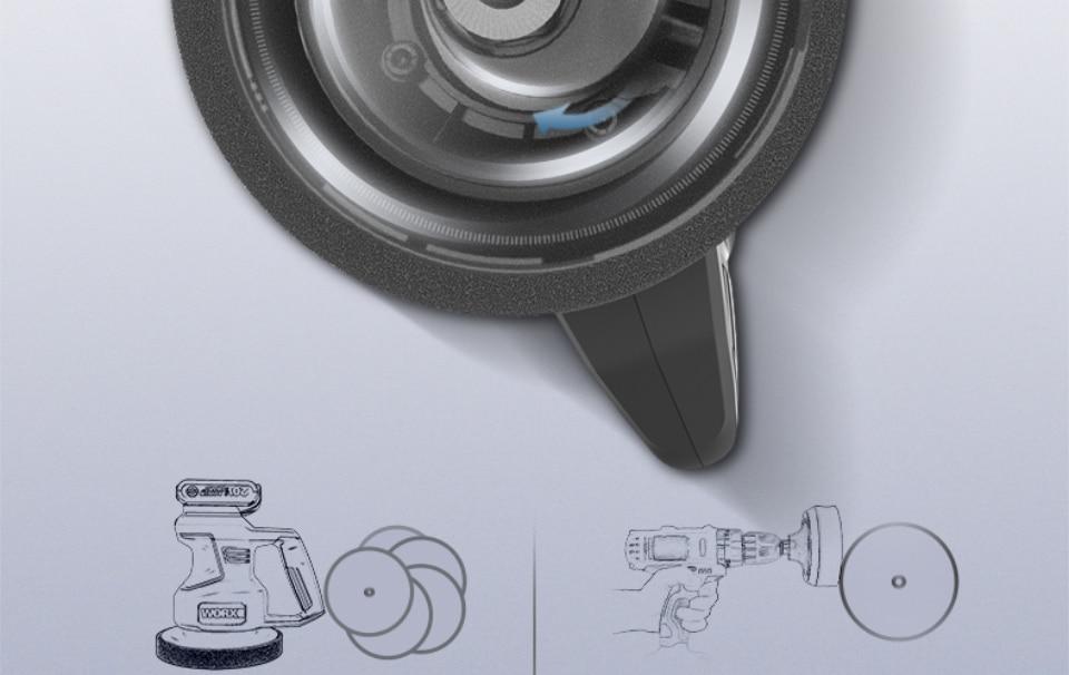 interior of Worx 20V Electric Car Polisher Machine