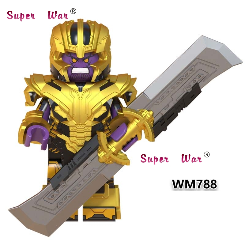 Single Avengers Avengers Endgame Super Heroes Thanos With Double-Edged Sword Infinity Gauntlet Building Blocks Kids Toys