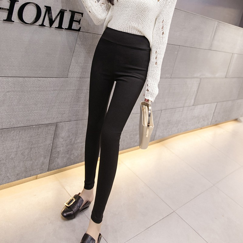 Spring Women Solid Color Pants Trouser Stretch Pants & Capris High Waist Pants Women Leggings Women's Clothing Hot