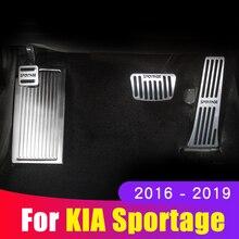 Alüminyum araba gaz fren pedalı ayak istirahat pedallar el tutamağı kapağı Pad Kia Sportage için 4 2016 2017 2018 2019 2020 aksesuarları
