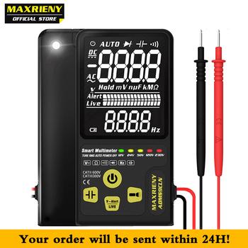 Cyfrowy multimetr woltomierz ADMS9CLN podwójny tryb wyświetlacz EBTN multimetro napięcie odporność na częstotliwość kondensator dioda NVC Tester tanie i dobre opinie MAXRIENY Elektryczne 600V 10M ohm Auto Range Cyfrowy wyświetlacz 1000uF 6000uF 136*67*12mm 0-40 ℃ 9999 Counts YES 2 X 3V (CR2032)