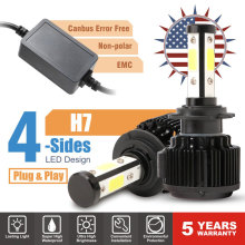 Автомобильный свет светодиодный H7 H4 H8 H9 H11 9005 HB3 9006 HB4 9012 9003 9004 9007 5202 H13 светодиодный фар 6500 к 20000LM 100 Вт 9 В, 12 В, 24 В постоянного тока, светодиодные лампы