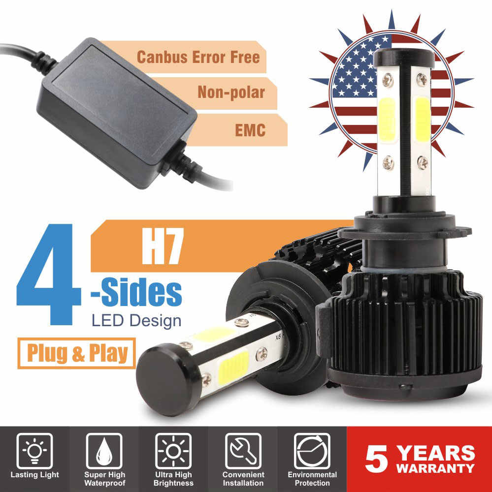 Car Light LED H7 H4 H8 H9 H11 9005 HB3 9006 HB4 9012 9003 9004 9007 5202 H13 LED Headlight 6500K 20000LM 100W 9V 12V 24V Lamp