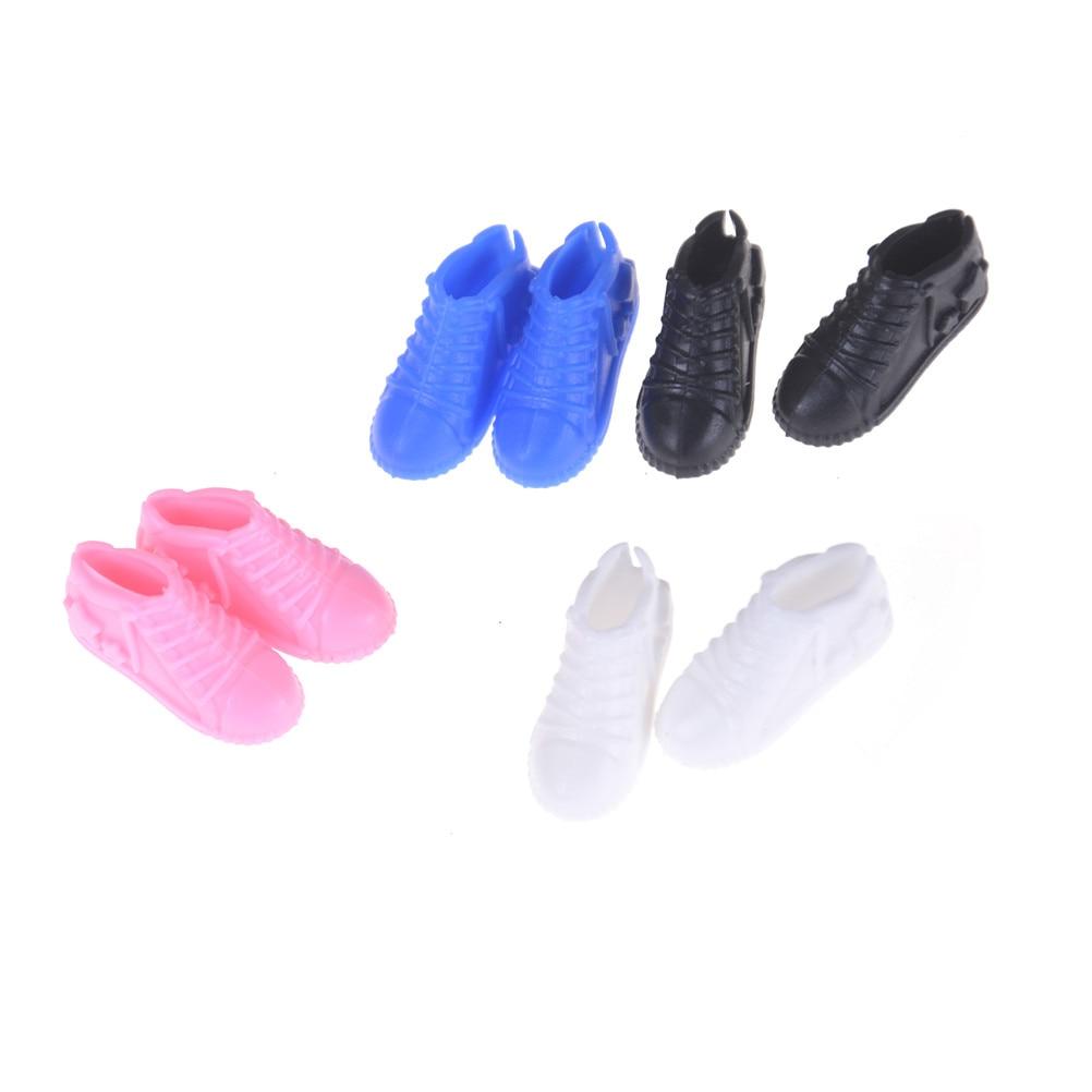 Модные кукольные мини игрушки для кукольной обуви, аксессуары, подарок на день рождения для девочек, 4 пары|Куклы|   | АлиЭкспресс