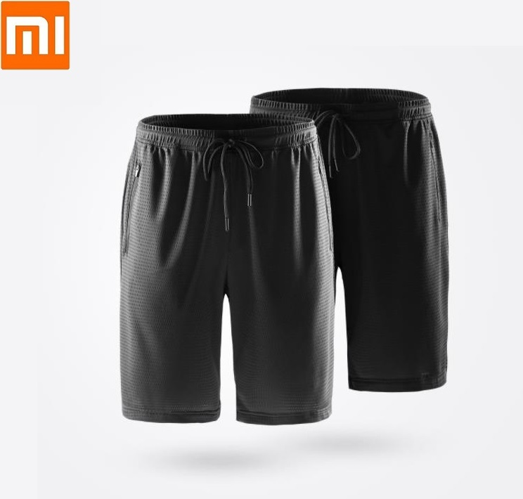 Xiaomi ULEEMARK Men's Cool Sports Shorts Skin-friendly Breathable Comfort Silky Casual Short Pants Fitness Running Sweatpants