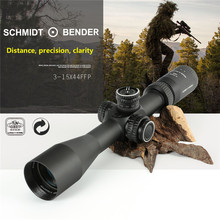 oхота Hunting Scope Schmidt Bender 3-15x44 FFP оптический прицел For AK 47 For airgun   прицел caza Riflescope for hunting