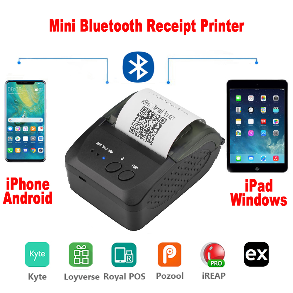 Bluetooth-Printer Bill-Machine Phone Thermal Receipt Android Mini Mobile Portable