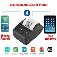 Портативный Миниатюрный bluetooth-принтер Термальный чековый принтер для мобильного телефона Android iOS 58 мм Счетная машина для магазина