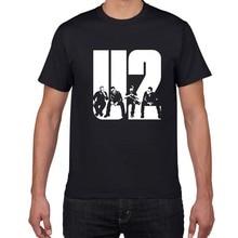 103 2019 new U2 design summer short sleeve Men T Shirt Casual Cotton Tee fashion Shirt Men Slim Fit T-Shirt Men O-Neck Tees tops цена