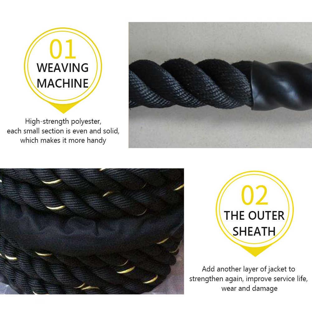 Schlacht Seil 2,8 m Länge Schwere Skipping Jump Seil 25mm Durchmesser Fitness Ausrüstung Massage Balance Matte für Übung