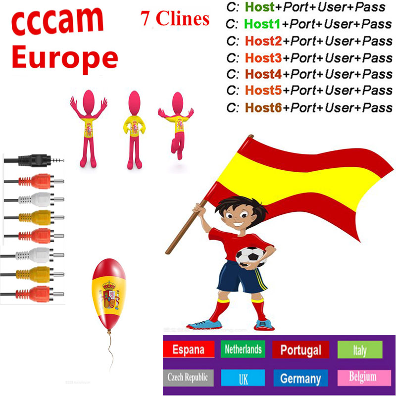 Cccam Europa Decoder 7lines For 1 Year Europa Used For Freesat V7 S2 V8 Nova 7Cline Satellite Receiver Europa Channels 7lines