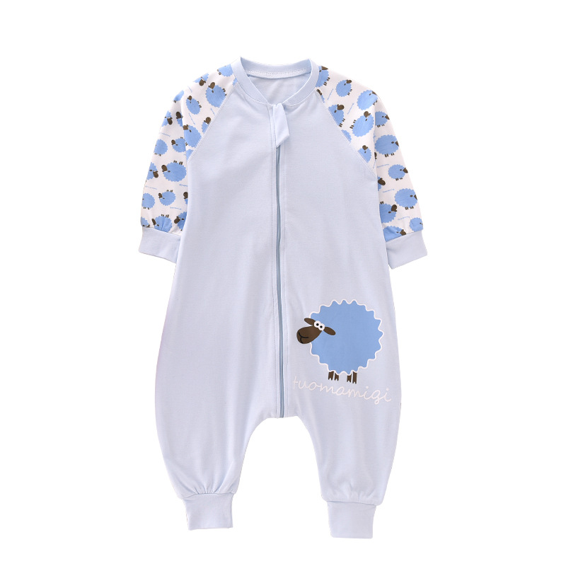 Spring Autumn Cotton Baby Girls Sleeping Bag Toddler Kids Pajamas Newborn Jumpsuit Infant Baby Sleep Sack For 0-4 Years Swaddle