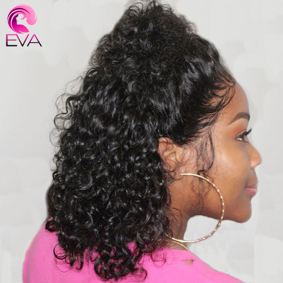 Eva Hair Full Lace Human Hair Wigs Pre Plucked With Baby Hair For Black Women Short Bob Curly Glueless Brazilian Remy Hair Wig