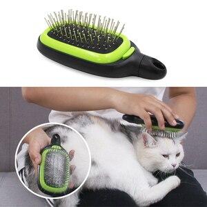 3 en 1 peine para mascotas cepillo grande para perros peine de belleza para Gatos Perros cepillo suave cepillo para mascotas herramienta de cuidado del producto
