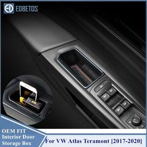 Image 2 - Atlas Teramont 2017 2018 2019 2020 İç kapı kolu depolama varil Volkswagen VW Atlas Teramont şeffaf plastik saklama kabı