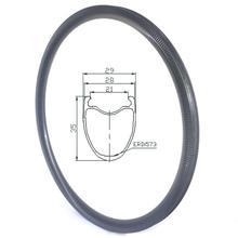 700C כביש אופני חצץ פחמן חישוקים דיסק 30mm 35mm 45mm 55mm פרופיל 28mm רוחב ללא פנימית פחמן חצץ חישוקים
