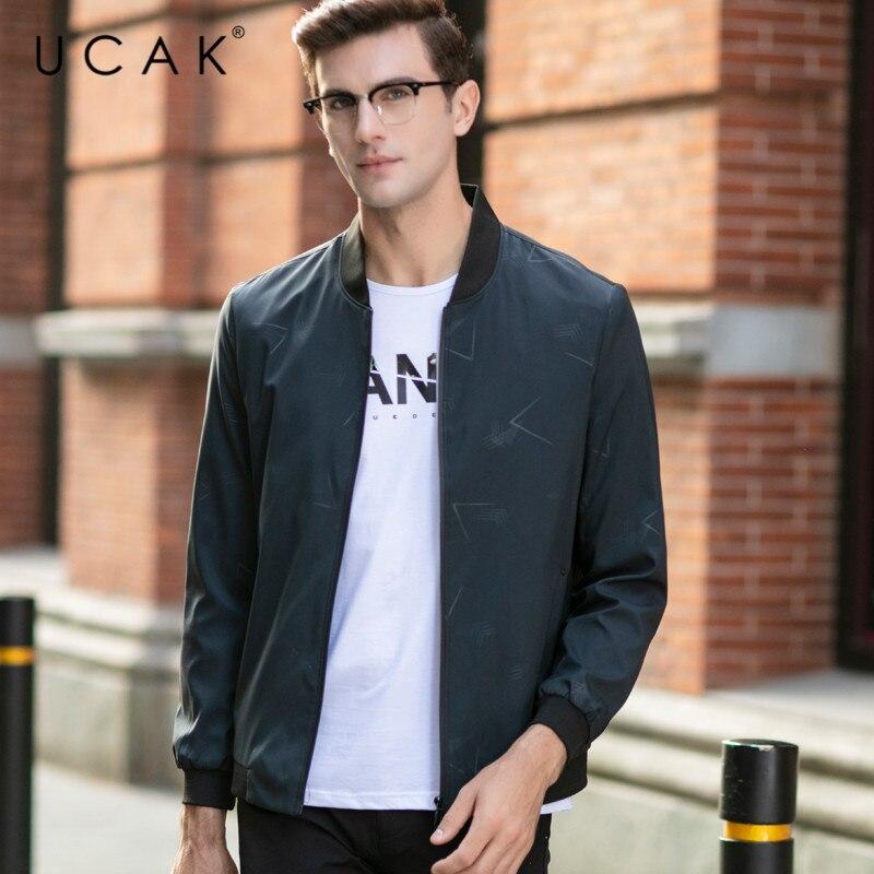UCAK Brand Casual Chaquetas Hombre Streetwear Clothes Zipper Jackets Mens Clothing 2020 Spring New Arrival Jacket For Men U8064