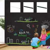 Soft Magnetic Self adhesive Blackboard Stickers Removable Children Graffiti Wall Stickers Office Presentation Boards Whiteboard