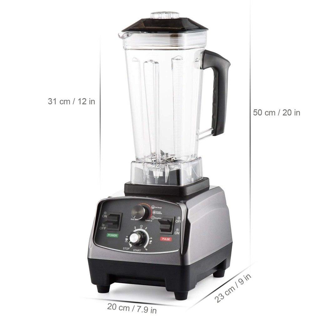 High Speed Fruit Blender Mixer with 8 Blade Fruit Juicer Soy milk Food Processor Ice Crusher Smoothie Machine 2.0L