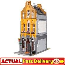 2650Psc 10003 Creative Street architettura visualizza serie gelateria negozio modello Building Blocks mattoni giocattolo regalo per bambini