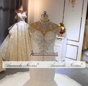Image 4 - ชุดเดรสเมอร์เมดแอฟริกา 2020 ลูกไม้ Appliques CUSTOM Made ชุดแต่งงาน vestidos de noiva