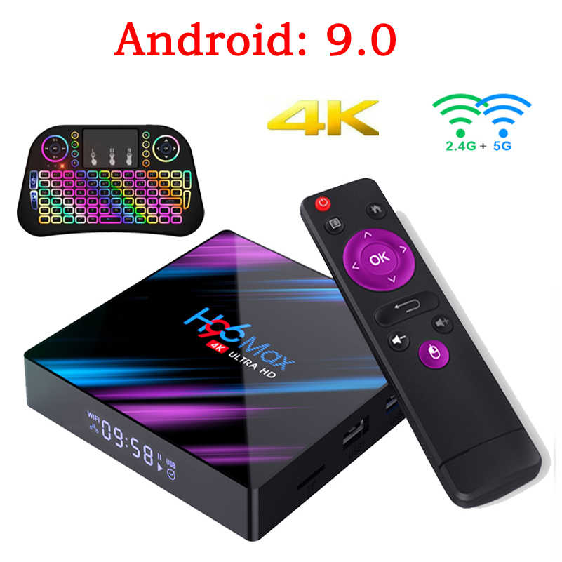 H96 MAX Inteligente Caixa de Tv Android 9.0 Caixa de Tv Set Top Box 4K Mi ni 4gb 32gb 64gb Quad Core media player PK X96 MINI HK1 MAX KM3 MI