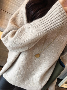 Women's cashmere sweater 2019 new casual pullover Turtleneck knitwear solid color High collar thick Tops large size sweater