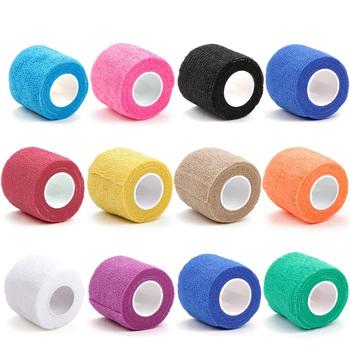 6 sztuk samoprzylepny uchwyt do tatuowania bandaż elastyczny włóknina okłady taśma jednorazowy tatuaż bandaż taśma ochronna do deskorolki akcesoria do tatuażu tanie i dobre opinie TRUE STAR CN (pochodzenie) Non-woven fabric B-TG-508B tattoo bandage roll Tattoo accesories as picture Medium 5cm X 4 5m