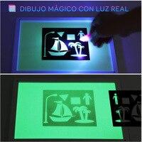 Rysuj ze światłem zabawa malowana tablica do pisania ye guang ban dzieci lśniąca magiczna tablica fluorescencyjna tablica do pisania 3D na
